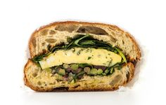 Frittata Sandwich with Olive Salad Recipe. Lettuce and tomatoes might be classic sandwich stuff, but this herby olive salad brings way more to the table—and it will never wilt. Arugula Recipes, Salad Recipes, Frittata, Vegetarian Recipes, Cooking Recipes, Egg Recipes, Olive Salad, Food Porn, Olive Recipes