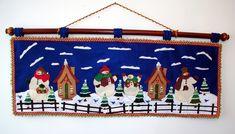 Cenefa Hombres Nieve - Bordados Oma Christmas Crafts, Xmas, Christmas Ornaments, Ideas Para, Advent, Seasons, Quilts, Dolls, Holiday