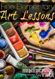 Free Elementary Art Lssons - I've never heard of a child who didn't love to create art. No matter your time or financial constraints, you can offer your child free Elementary Art Lessons! Kindergarten Art, Preschool Art, Art Curriculum, Art Lessons Elementary, Teaching Elementary Art, Art Education Lessons, Art Studies, Social Studies, Art Classroom