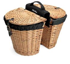 REAR RACK WICKER BASKETS w/LINERS (Natural) Electrabike Online Store   Bike Parts and Accessories