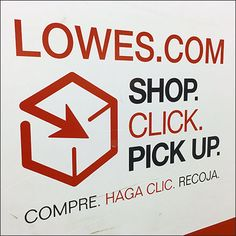 Online Shopping and Pickup Encouraged at Lowes