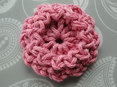 Ravelry: Ridge Edge Flower pattern by Claire from Crochet Leaf
