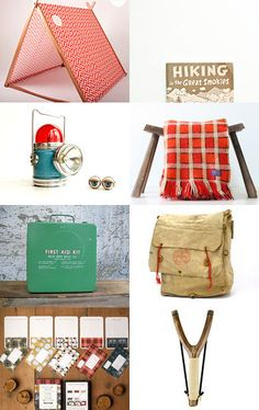 summer camping gear - vintage style