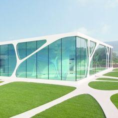 Des bureaux organiques : Leonardo Glass Cube