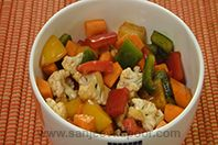 Carrot And Cauliflower Salad: Sauteed vegetables tossed in balsamic vinegar based dressing.