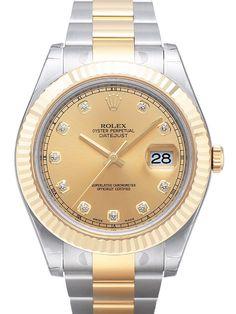 Rolex Datejust II 41 116333 Champagnerfarben Diamant