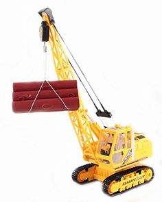 buy now   £39.99    Radio Control Deluxe 27MHz Yellow Heavy Construction Crane Excavator Let their imagination run wild. this crane is capable of dragging / pulling things with its hook, offering very  ...Read More