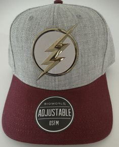 reputable site f4504 55733 The Flash Barry Allen Chrome Weld DC Comics Snap Back Curved Bill Hat Nwt   DCComics
