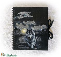 Farkas mintás napló, jegyzetfüzet,15x19 cm, emlékkönyv, totem állat, indián (Merka) - Meska.hu Moose Art, Animals, Animaux, Animal, Animales, Animais