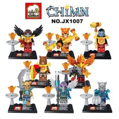 Lot of 8 Sets MiniFigures Legends of Chima GORZAN Building Toys in stock  #Dego