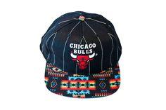 3ce459054b4f8 Chicago Bulls Vintage Starter Aztec Strapback Hat. via Etsy. Strapback  Hats