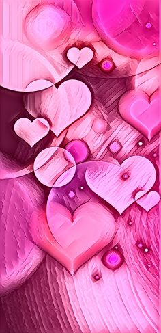 Heart Iphone Wallpaper, Love Wallpaper, Textured Wallpaper, Wallpaper Backgrounds, Wallpaper Ideas, Pink Love, Bright Pink, Heart Painting, Backrounds