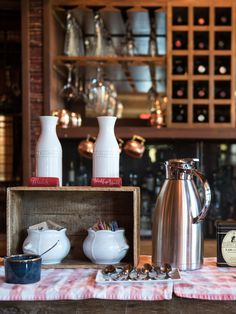 Coffee, tea and fresh pastries are served every morning in The Ranch at Rock Creek's Great Room. They include specialties from our pastry chef, locally roasted coffee and a selection of teas. What a way to wake up, enjoying a warm brew by the fireside.  Photo by Donnie Sexton.