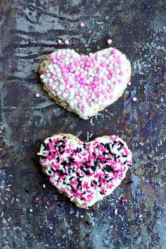 White Chocolate Valentines Day Rice Krispie Treats