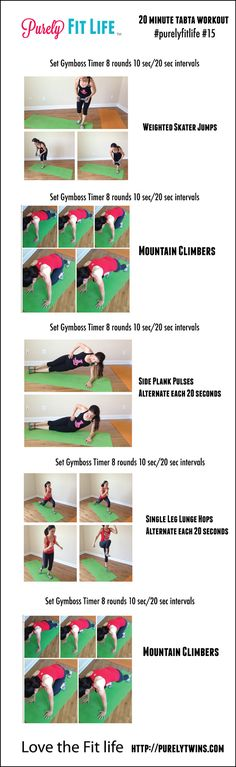 20 minute fat burning tabata workout #fitfluential