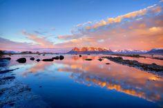 Midnight sun over a North Norwegian landscape / Kjersti Busk Joergensen