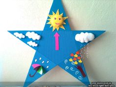 Weather crafts and activities for kids Kids Crafts, Easy Crafts, Diy And Crafts, Arts And Crafts, Paper Crafts, Art And Craft Shows, Art N Craft, Weather Crafts, Class Decoration
