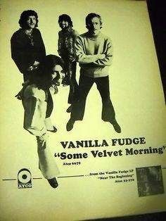Vanilla Fudge.Rare 1969 Promo Poster