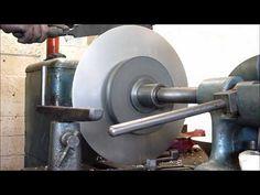 Manuell Trycksvarvning,  Metal spinning (softlight) - YouTube Copper Pots, Sheet Metal, Lathe, Wood Turning, Metal Working, Spinning, Door Handles, House Plans, Boss