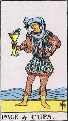 Page Of Cups is part of the Minor Arcana in the 56 suit cards. Get Page Of Cups in your daily tarot card reading online: is there a romantic atmosphere? Tarot Significado, Tarot Gratis, Free Tarot Reading, Daily Tarot, Tarot Card Meanings, Wheel Of Fortune, Tarot Readers, Card Reading, Tarot Decks
