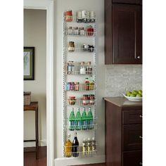 ClosetMaid 8-Tier Over-the-Door Adjustable Wire Rac : Target Kitchen Organization, Kitchen Storage, Storage Spaces, Pantry Storage, Pantry Diy, Storage Organization, Kitchen Pantry, Kitchen Cabinets, Wall Pantry