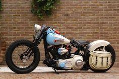 Retro motorcycle gear bobbers 49 New Ideas Softail Bobber, Bobber Bikes, Harley Bobber, Bobber Motorcycle, Bobber Chopper, Motorcycle Garage, Sportster 48, Harley Softail, Vintage Bikes