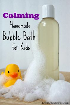 DIY Gifts : Calming Homemade Bubble Bath for Kids Calming Homemade Bubble Bath for Kids - Dwelling In Happiness Sharing is caring, don't forget to share Bubble Bath Homemade, Homemade Bubbles, Kids Bubbles, Bath Bubbles Diy, Bubble Baths, Bubble Bath Soap, Diy Cosmetic, Bath Recipes, Soap Recipes