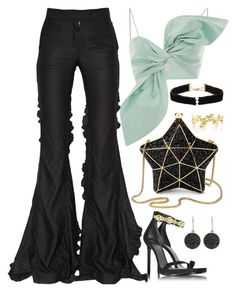 Mint, Black & Gold by carolineas on Polyvore featuring polyvore, fashion, style, Marco de Vincenzo, Versace, Aspinal of London, Anissa Kermiche, Tiffany & Co., Astley Clarke and clothing