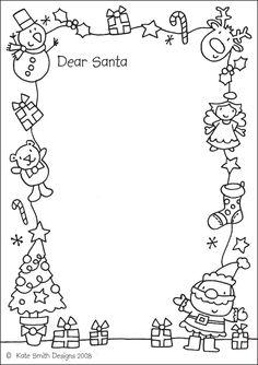 Dear Santa Letter Template Freebie  Tpt Free Lessons