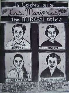 """Las Mariposas"" by Meredith Stern. http://arrestedmotion.com/. Tags: Linocut, Cut, Print, Linoleum, Lino, Carving, Block, Woodcut, Helen Elstone, Human, Women, Portrait."