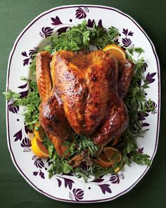 Turkey with Brown-Sugar Glaze by marthastewart #Turkey #Brown_Sugar