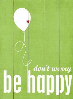 Be Happy Wall Decor