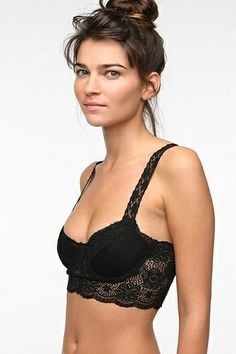 934776019a2 Tht looks really comfortable for a bra Sparkle   Fade Lace Bralette. This  would be cute under a low-cut backless top
