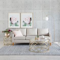 Kate 3 seater sofa, Prince coffee and side table