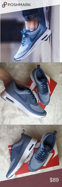 Selling this NWT air max Thea blue on Poshmark! My username is: annashop. #shopmycloset #poshmark #fashion #shopping #style #forsale #Nike #Shoes