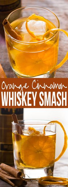 Simple tips to make orange cinnamon whiskey smash. A great fall cocktail that's perfect for the holiday table. Can be made with bourbon too. via @my_foodstory