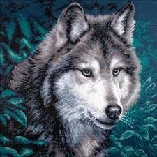 Afbeeldingsresultaat voor wolf cross stitch patterns free