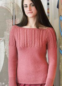 1d6e098fc1cf Fitted Cable Pullover. See more. Cable Sweater Pattern  Wheat-ear Cable  Yoke by Pam Allen Cable Knitting Patterns