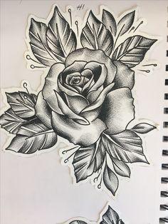 Rose Tattoos, Flower Tattoos, Body Art Tattoos, Sleeve Tattoos, Rose Drawing Tattoo, Tattoo Sketches, Tattoo Drawings, Graffiti Tattoo, Traditional Roses