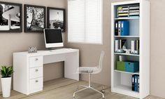 Conjunto Home Office Branco - Tecno Mobili