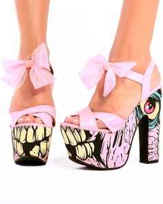 Iron Fist Shoes : Be Wild With Your Mind Using This Shoes:Pink Ribboned Ankle Straps Iron Fist Shoes  Picture Of Face Painting Platform Iron...
