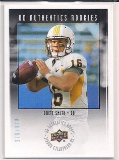 2014 Upper Deck Authentics Rookies Brett Smith Serial #'d 276/430 Refractor card #TampaBayBuccaneers