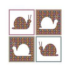 Snail cross stitch pattern x 4 charts