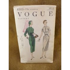 1955 Vogue Vintage Dress Pattern Size 12 by 4GetMeNotTreasures, $10.00