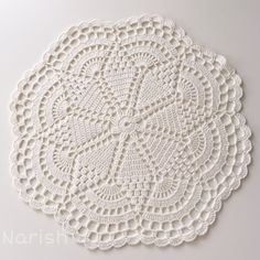 Round crochet doily easter table decoration white lace doily center piece by fancyloops ready to – Artofit Crochet Diagram, Filet Crochet, Crochet Motif, Hand Crochet, Lace Doilies, Crochet Doilies, Crochet Flower Patterns, Crochet Flowers, Crochet Stone