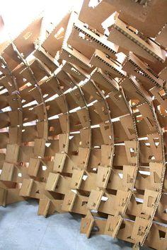 Galería - País Vasco: estudiantes construyen pabellón de cartón en base al diseño paramétrico - 4