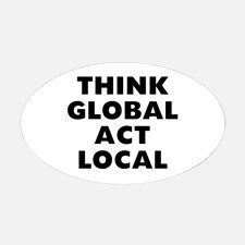 Think Global Decal for