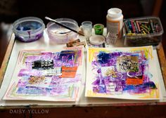 Art Journaling 101 - abstract - create explore paint http://daisyyellowart.com/abstract/art-journaling-101.html