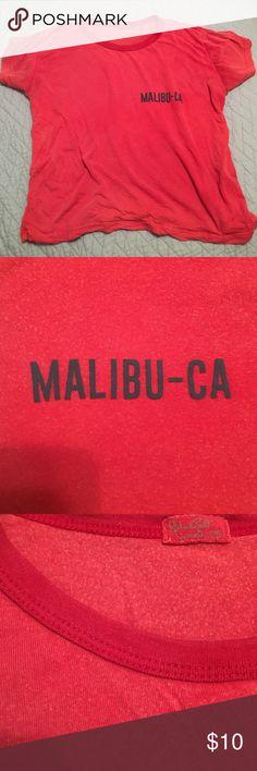 "John Galt/ Brandy Melville Malibu Tee Super soft! Casual, ""worn-in"" feel. Brandy Melville Tops Tees - Short Sleeve"