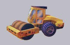 Sakai CV550D Compactor Ver.3 Free Construction Vehicle Paper Model Download